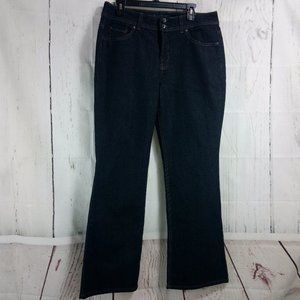 Nine West Boot Cut Size 12 Dark Blue Jeans 33x32